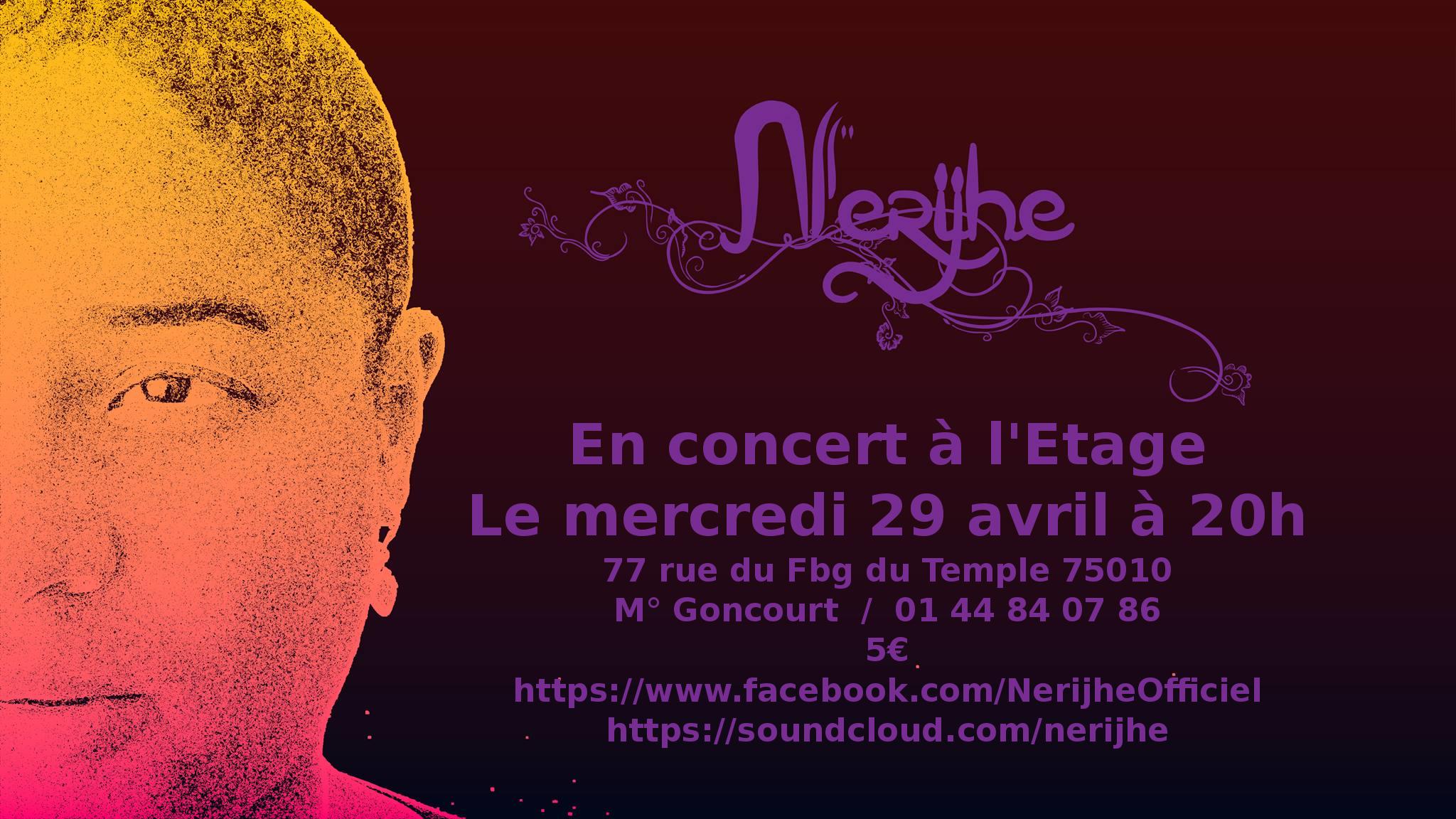 Nerijhe a l'Etage le 29 avril 2015 à 20h