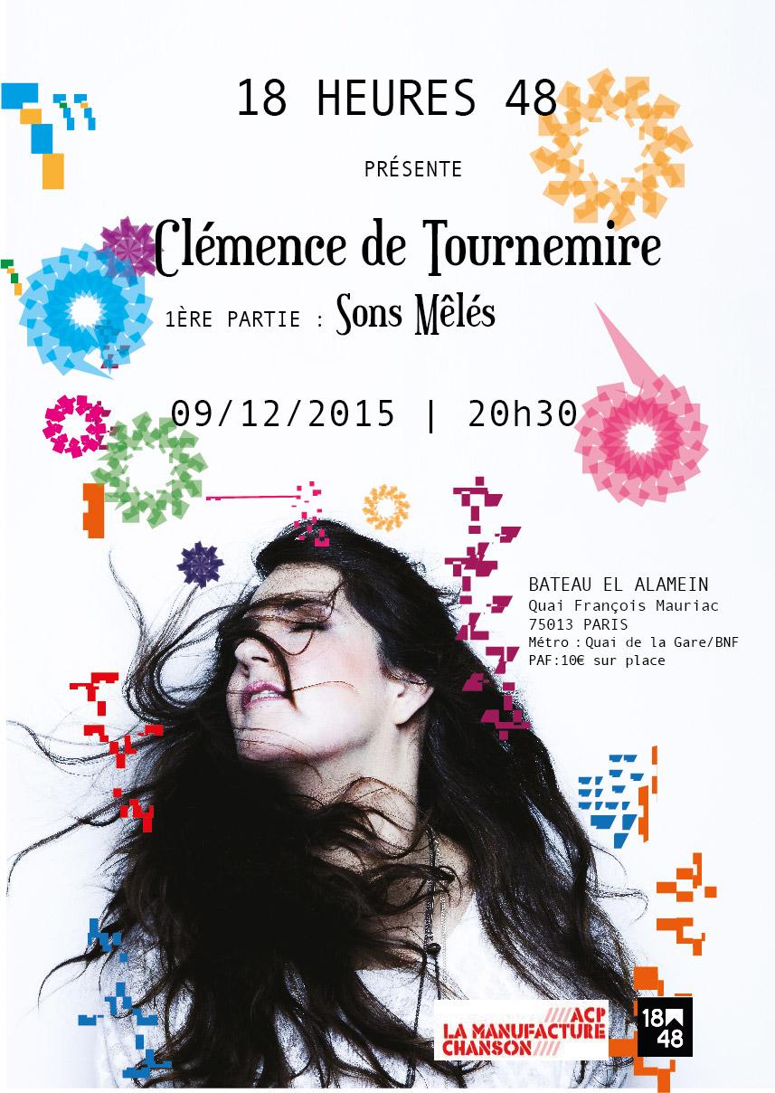 Clémence de Tournemire en concert au bateau El Alamein le 9 décembre 2015 à 20h30